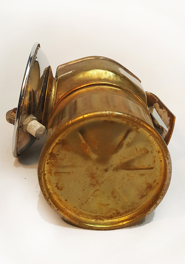 Antique Miners Lamp underside