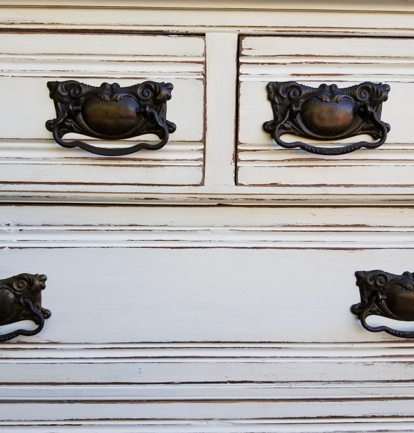 Eastlake Marble Top Dresser  center detail