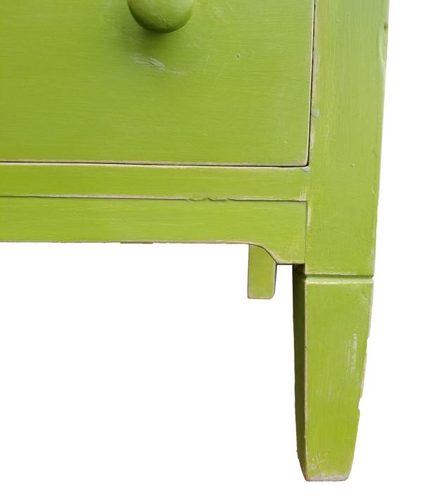 Antique Dresser in Vibrant Apple Green