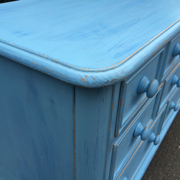 Country Blue Dresser corner