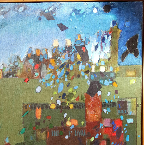 The People Makers -  Oil on Canvas by Lois Foley
