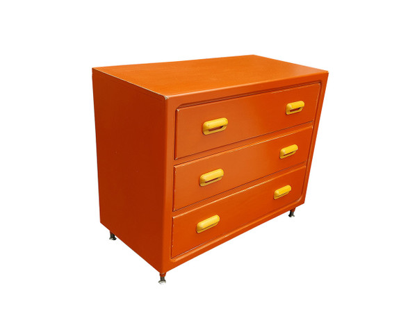Retro Modern Dresser in Persimmon