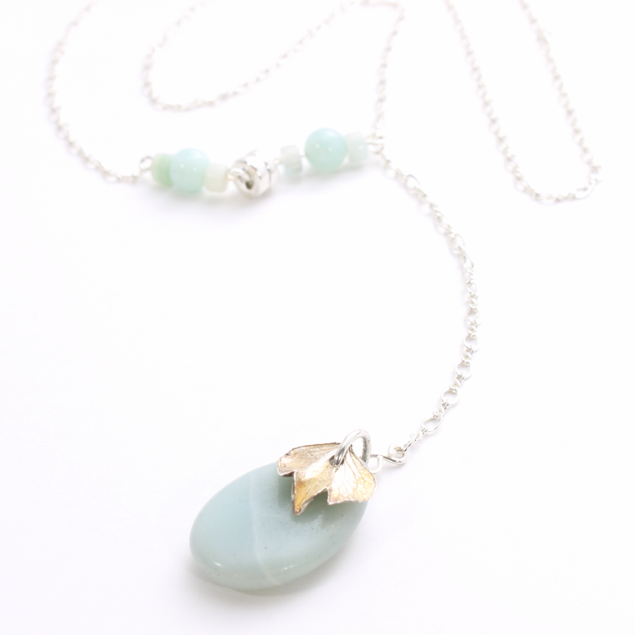 hydrangea-flower-petal-y-necklace-with-amazonite-teardrop-pendant