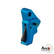 Apex Action Enhancement Trigger for Glock Blue Trigger shoe