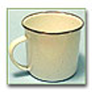 12 OZ WHITE ENAMEL MUG