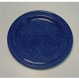 "8"" SALAD PLATE BLUE ENAMEL"