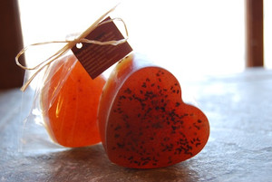 Red Raspberry Jam Sweetheart Soap