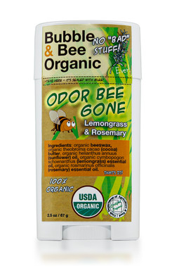 Lemongrass Rosemary 100% Organic Deodorant Stick