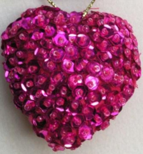 Heart Sequin Fuschia SS10F