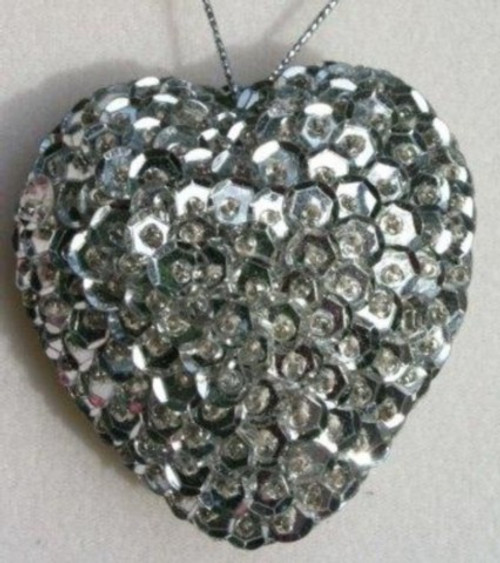 Heart Sequin Silver SS10S