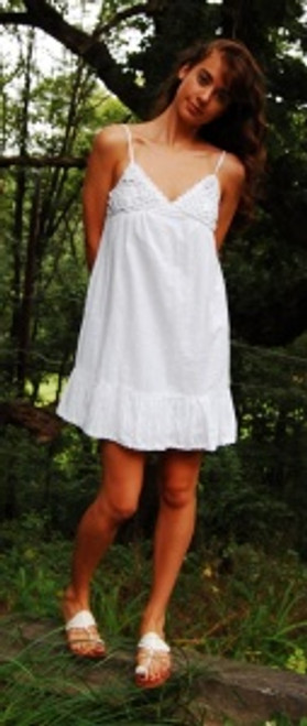 Organic Cotton Crochet Nightgown