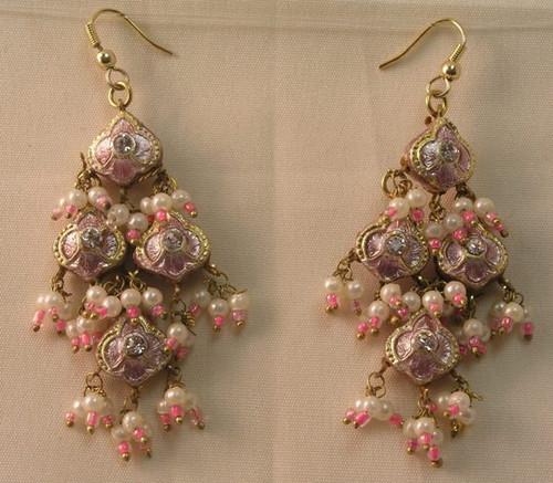 Lak Earring Medium Pink JLAKE4P