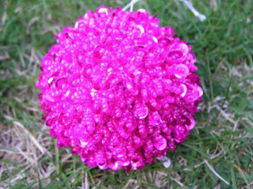 Ball Bead and sequin ball Fuschia T13F
