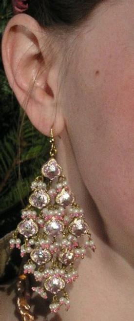 Lak Earrings Large PINK JLAKE9P