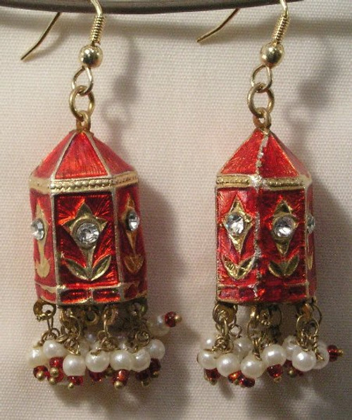Temple Earrings Red gold Lak JL09R
