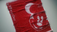 Disney Mickey Golf Towel Red