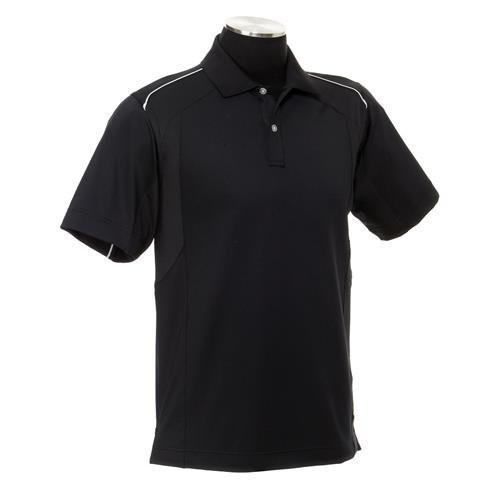 Callaway Mens Mesh Piped Tour Logo Golf Polo Shirt