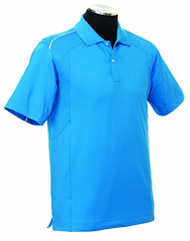 Callaway Mens Mesh Piped Tour Logo Golf Polo Blue Large