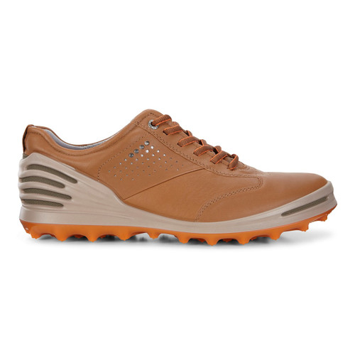 Ecco Mens Cage Pro Golf Shoes Camel Extra Width Option