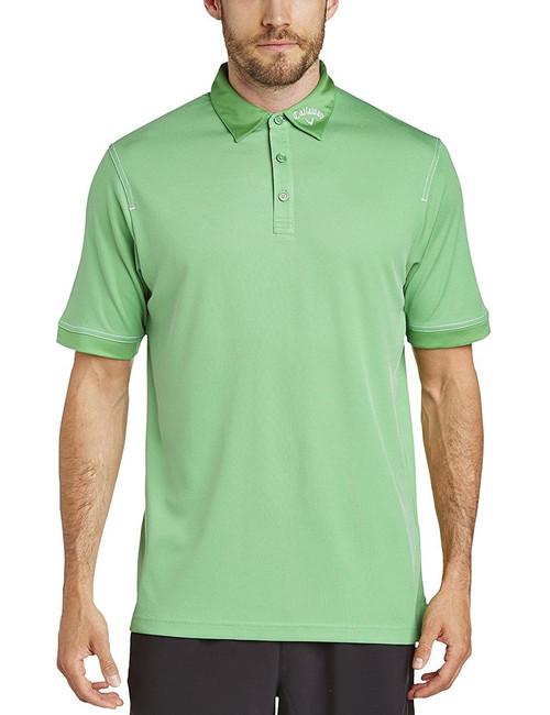 Callaway Mens Hawkeye Golf Polo Shirt Fern Green Small