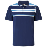 Callaway Golf Mens Engineered Roadmap Striped Polo Peacoat Med