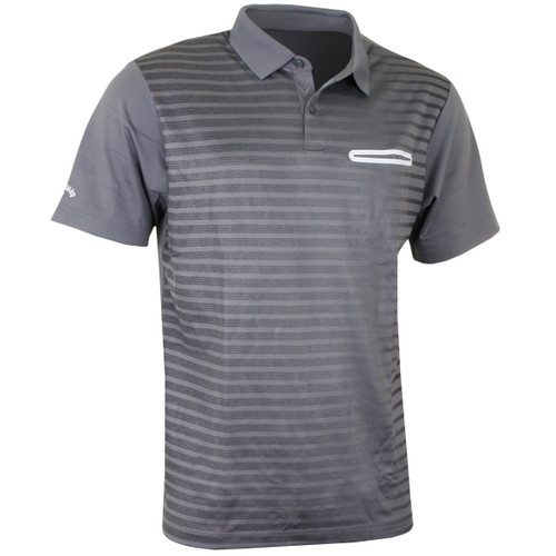 Callaway Golf Mens Ombre Pocket Polo Quietshade Med