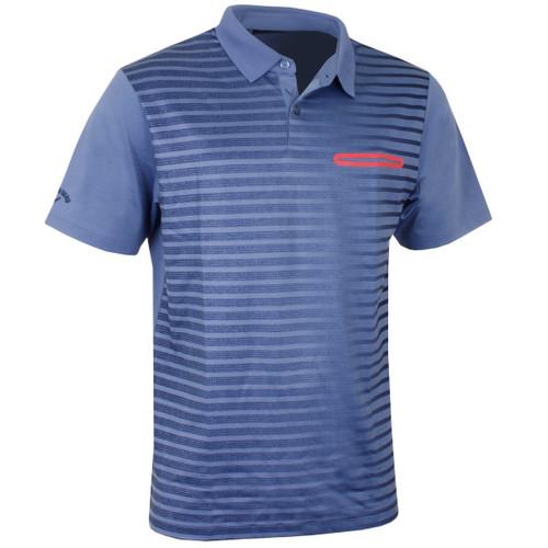 Callaway Golf Mens Ombre Pocket Polo Moonlight Blue Med