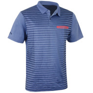 Callaway Golf Mens Ombre Pocket Polo Moonlight Blue Med