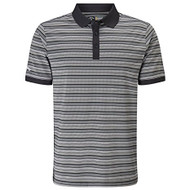 Callaway Golf Mens Fine Line Striped Polo Caviar Med