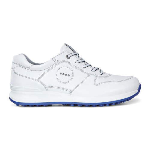Ecco Mens Golf Speed Hybrid Shoes White/Royal