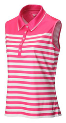 JRB Ladies Stripe Sleeveless Golf Shirt