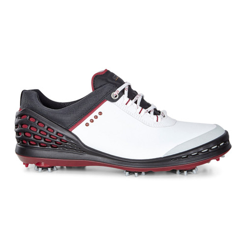 Ecco Mens Cage Golf Shoes White/Black