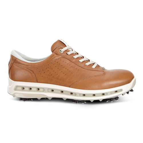 Ecco Mens Golf Cool Goretex Shoes Camel