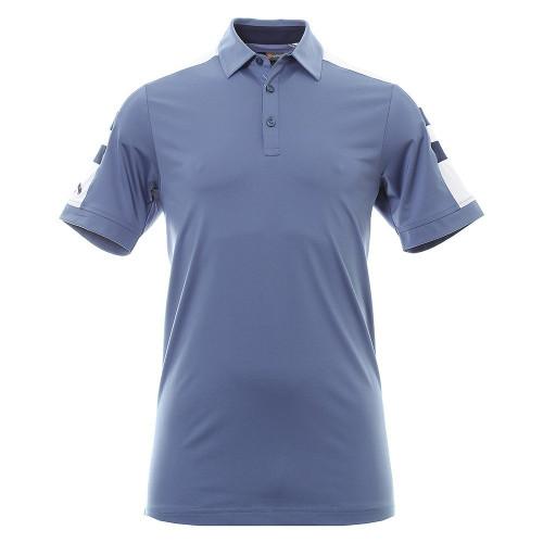 Callaway Golf Mens Contrast Shoulder Block Polo Shirt Moonlight Blue