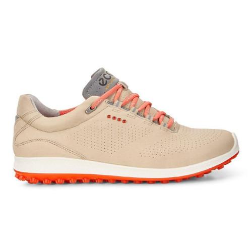 Ecco Womens Biom Hybrid 2 Golf Shoes Oyster Coral Blush