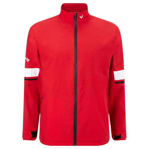 Callaway Men's Green Grass 3.0 Waterproof Jacket Tango Red Medium