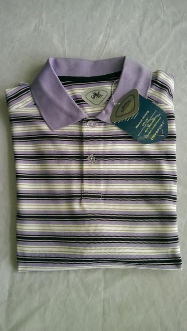 Callaway Mens Striped Golf Shirt Aster Large