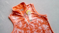 Callaway Womens Fading Stripe Sleeveless Golf Polo Nasturtium Small
