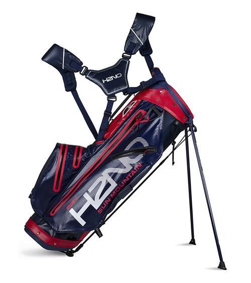 Sun Mountain H2N0 lite Waterproof Golf bag Navy/Red (18H2NOL-NR)