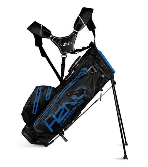 Sun Mountain H2N0 14-WAY Waterproof Golf Bag Black/Blue (18H2NOS-BC)