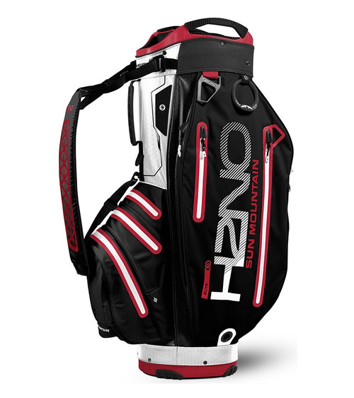 Sun Mountain Waterproof H2NO Elite Golf Bag Black/White/Red (18H2NOEC-BWR)