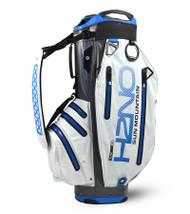 Sun Mountain Waterproof H2NO Elite Golf Bag White/Gunmetal/Blue (18H2NOEC-WGC)