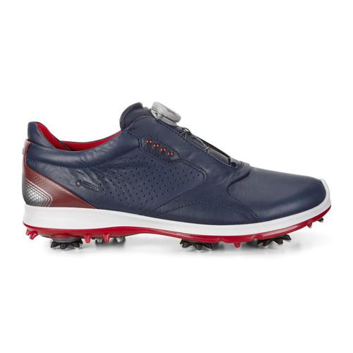 Ecco Mens Biom G2 Boa Goretex Golf Shoes Navy Brick New for 2018
