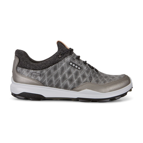 Ecco Mens Biom Hybrid 3 Goretex Golf Shoes Black Buffed Silver