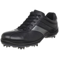 Ecco Mens Casual Cool II Goretex Golf Shoes Black/Silver Size 46