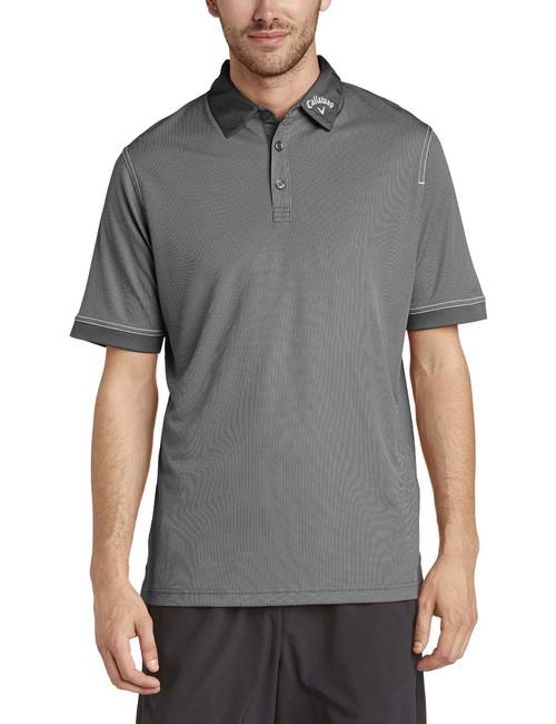 Callaway Mens Hawkeye Golf Polo Shirt Caviar Medium