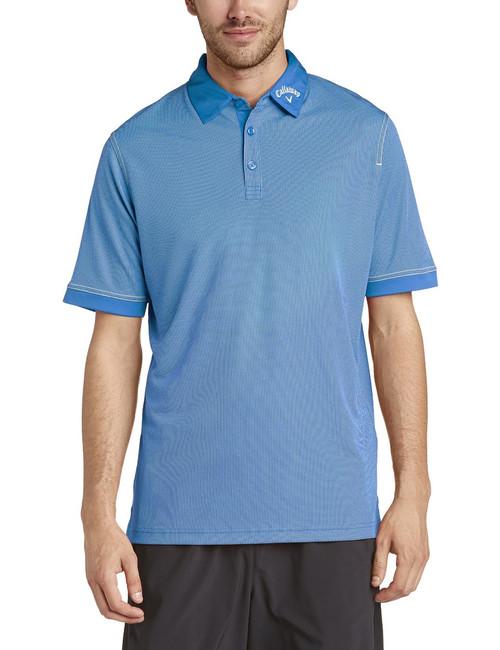Callaway Mens Hawkeye Golf Polo Shirt Magnetic Blue Medium