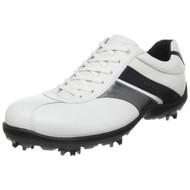 Ecco Mens Casual Cool II Goretex Golf Shoes White/Silver/Black Size 41