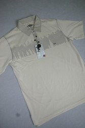 Ashworth Mens Golf Shirt Stone Large
