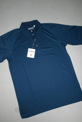 Ashworth Mens Golf Shirt Blue Medium